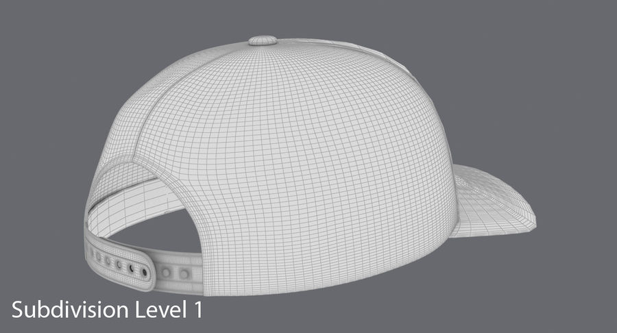 Baseball Cap royalty-free 3d model - Preview no. 19