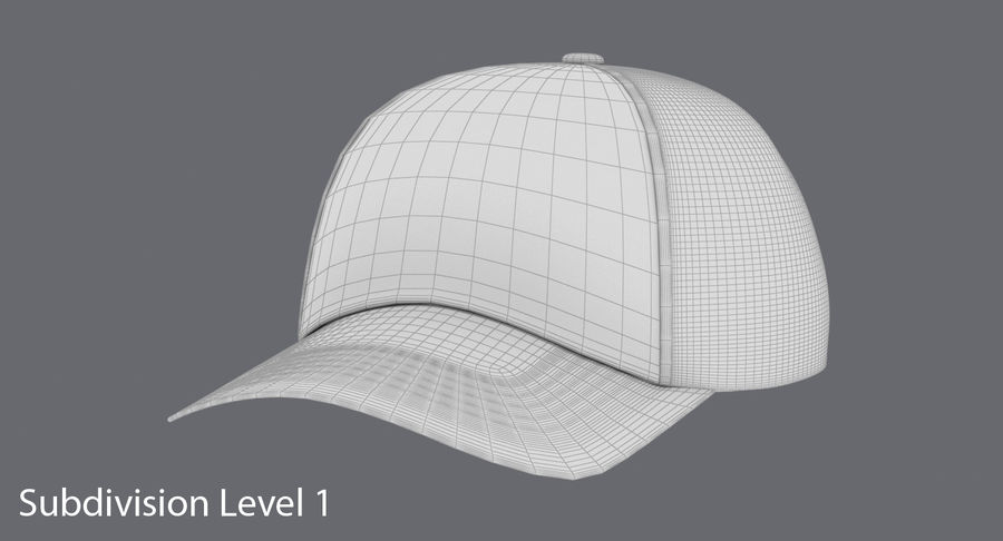 Baseball Cap royalty-free 3d model - Preview no. 17