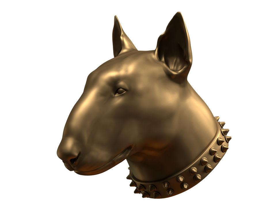 bull terrier hoofd royalty-free 3d model - Preview no. 3