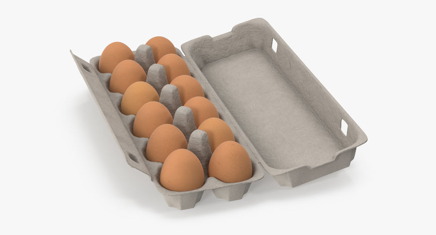 Egg Container 01 Open and Closed royalty-free 3d model - Preview no. 12