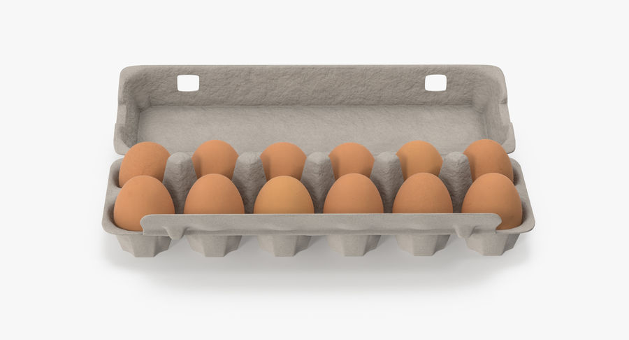 Egg Container 01 Open and Closed royalty-free 3d model - Preview no. 13