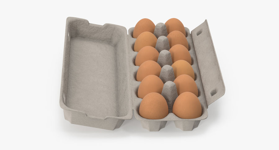 Egg Container 01 Open and Closed royalty-free 3d model - Preview no. 14