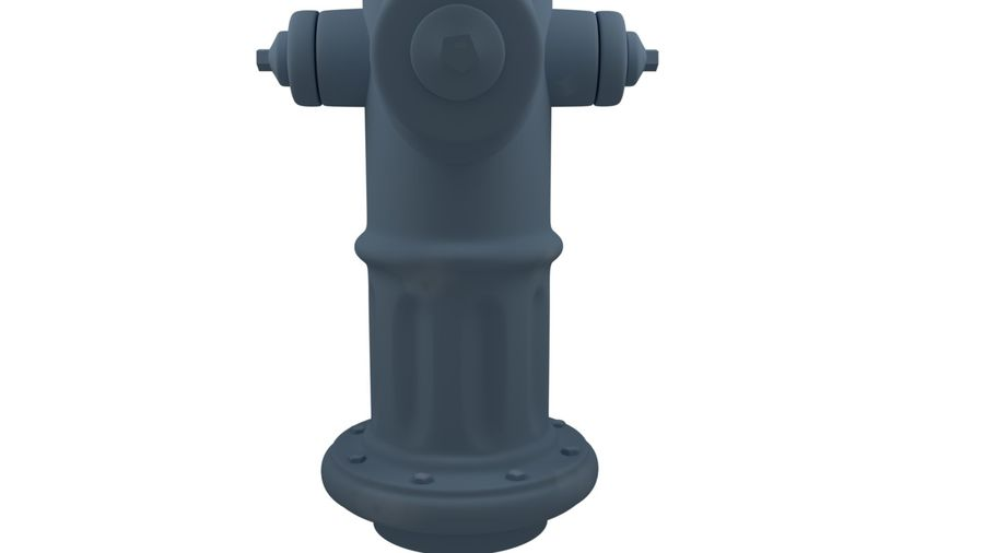 Feuerhydrant royalty-free 3d model - Preview no. 9