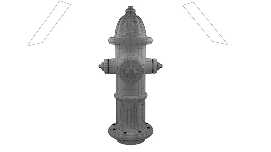 Feuerhydrant royalty-free 3d model - Preview no. 10