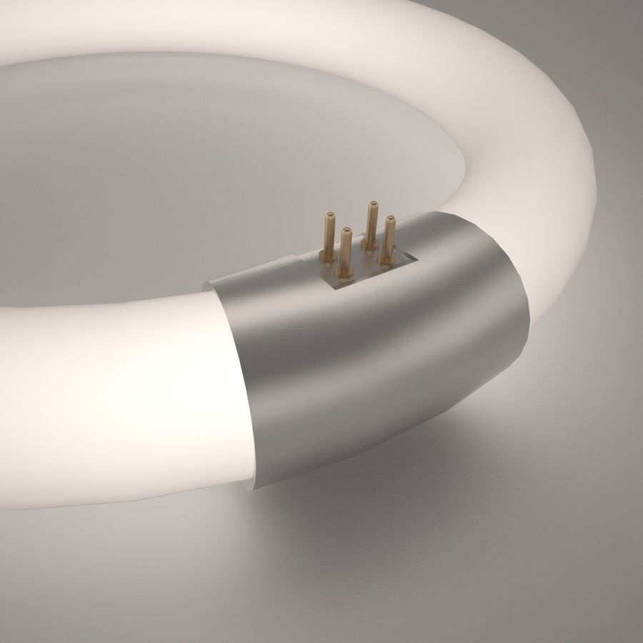 Lampe fluoreszierend royalty-free 3d model - Preview no. 4