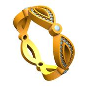 Marquise Eterinity Band 3d model