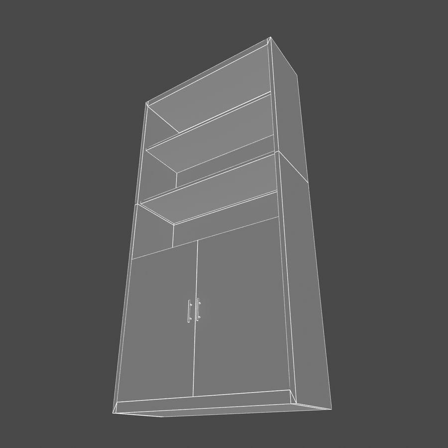 Drewniana półka royalty-free 3d model - Preview no. 6