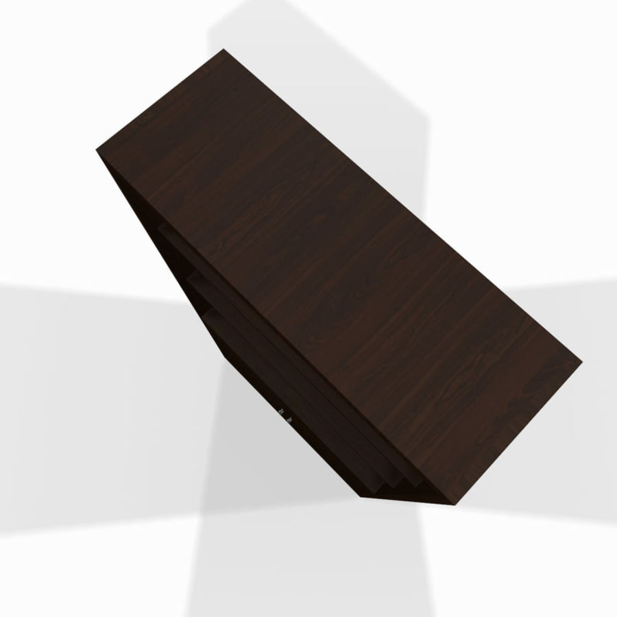 Drewniana półka royalty-free 3d model - Preview no. 4