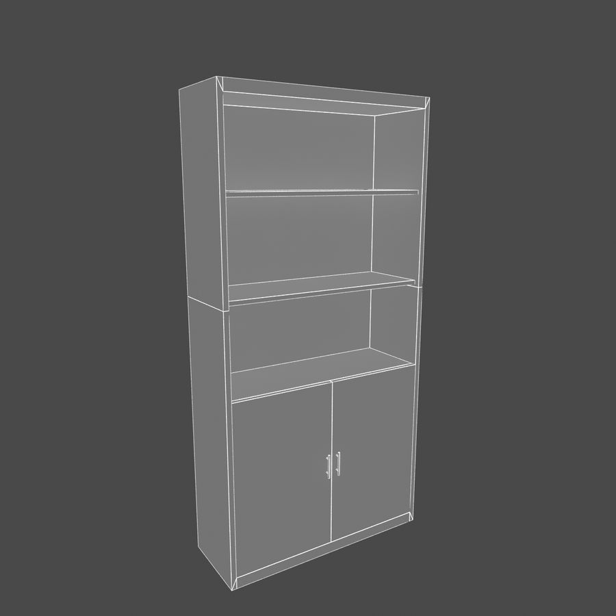 Drewniana półka royalty-free 3d model - Preview no. 5