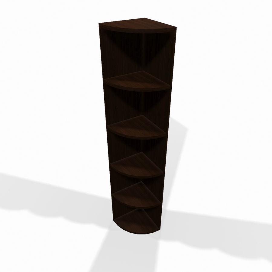 Drewniana półka narożna royalty-free 3d model - Preview no. 1