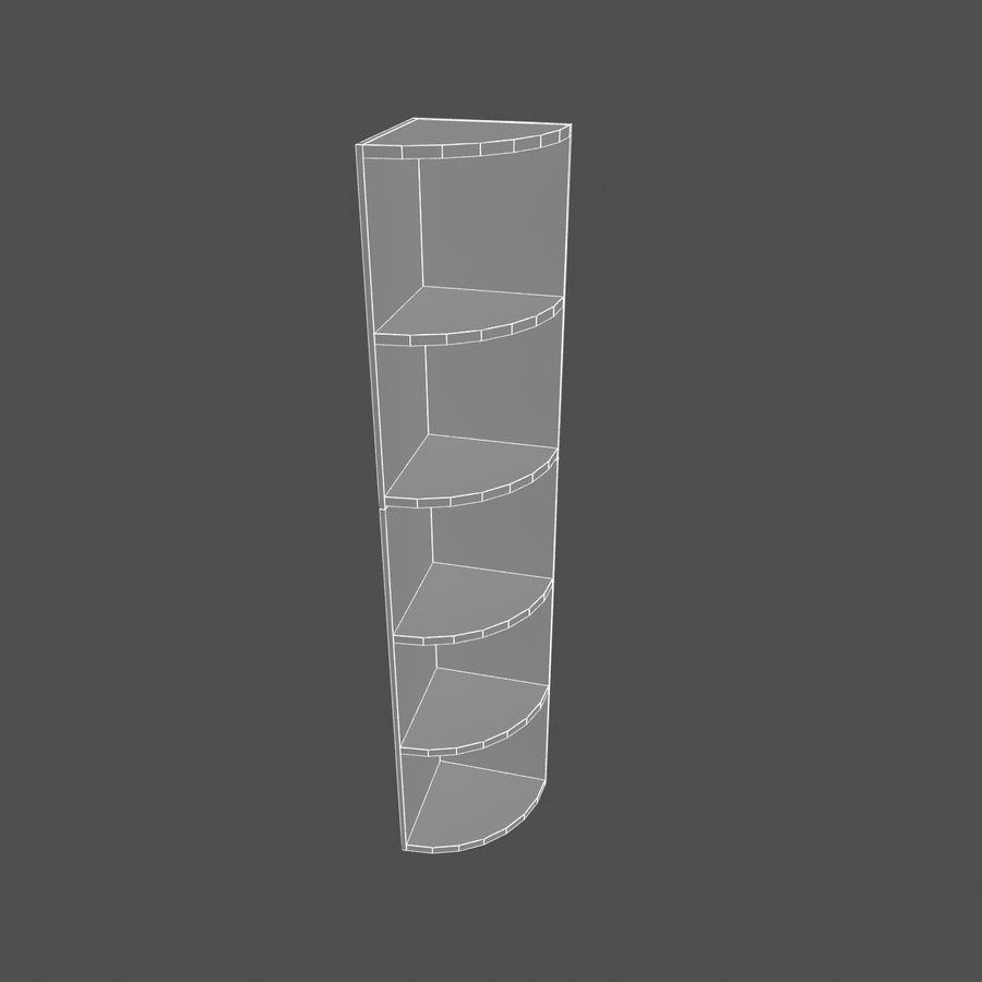 Drewniana półka narożna royalty-free 3d model - Preview no. 5