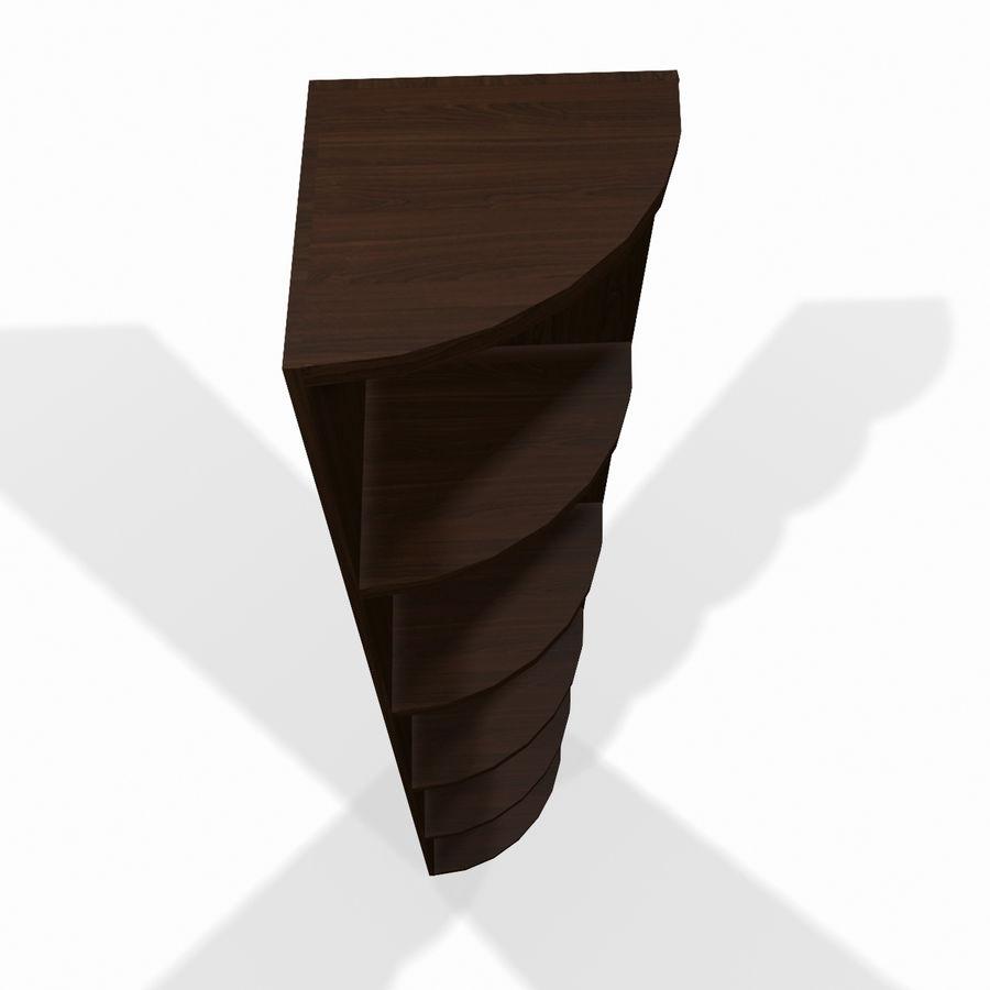 Drewniana półka narożna royalty-free 3d model - Preview no. 4