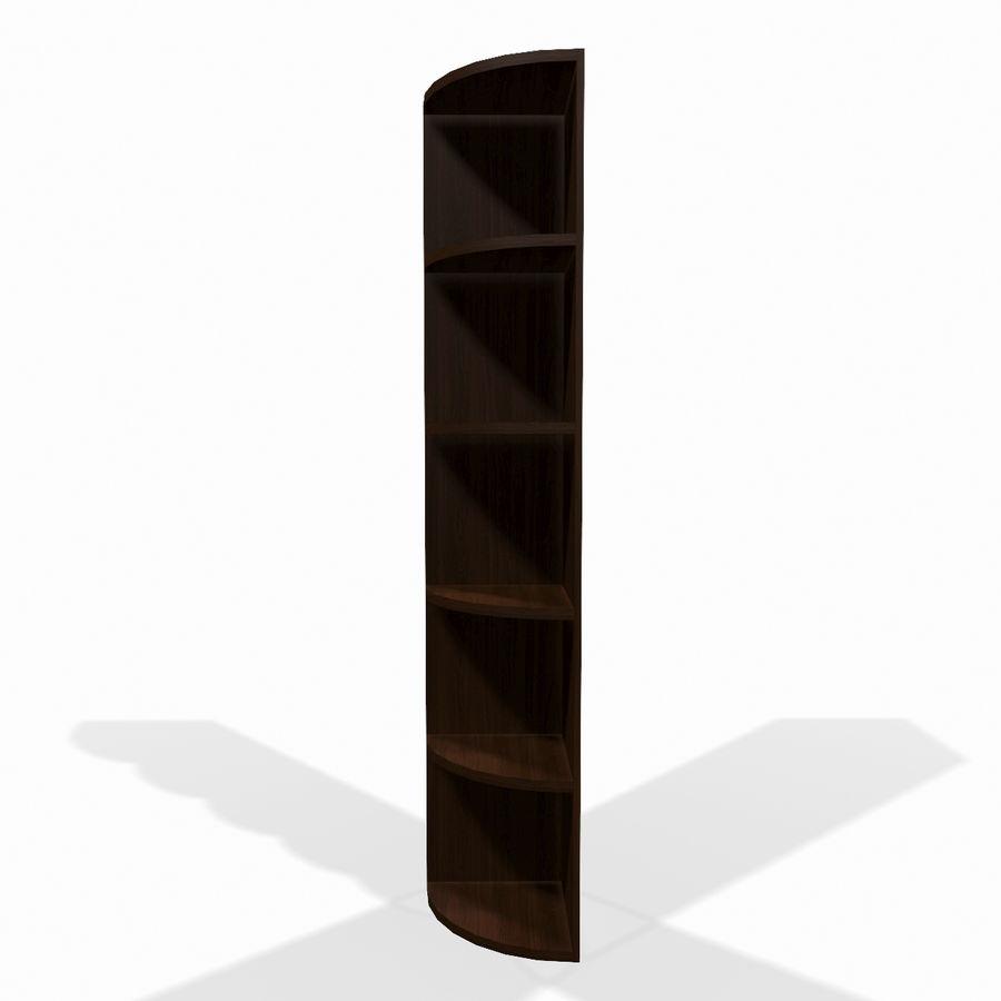 Drewniana półka narożna royalty-free 3d model - Preview no. 2