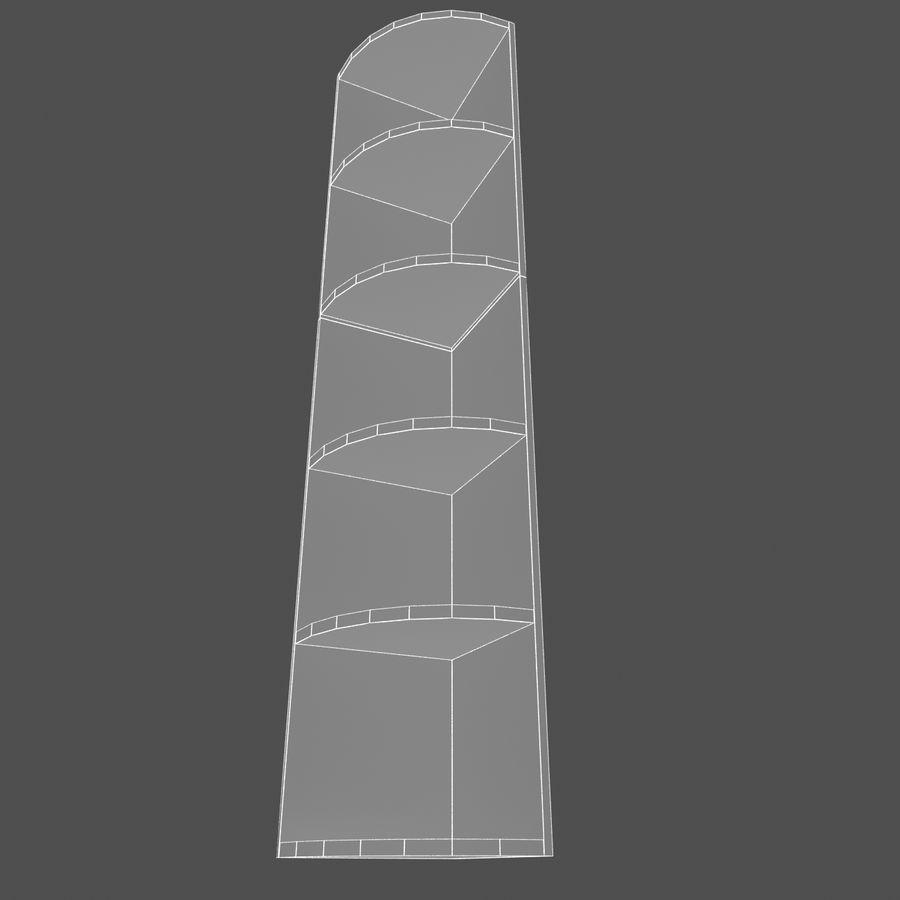 Drewniana półka narożna royalty-free 3d model - Preview no. 6