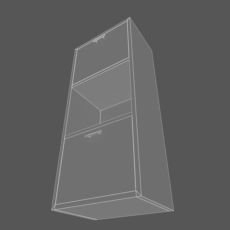 Nowoczesna drewniana półka do salonu royalty-free 3d model - Preview no. 6