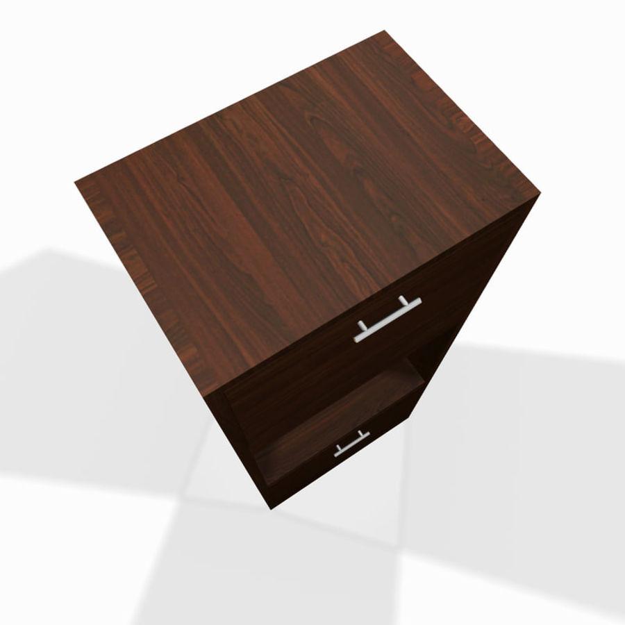 Nowoczesna drewniana półka do salonu royalty-free 3d model - Preview no. 4