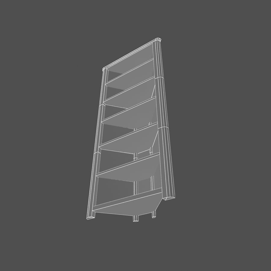 Houten hoekplank royalty-free 3d model - Preview no. 6