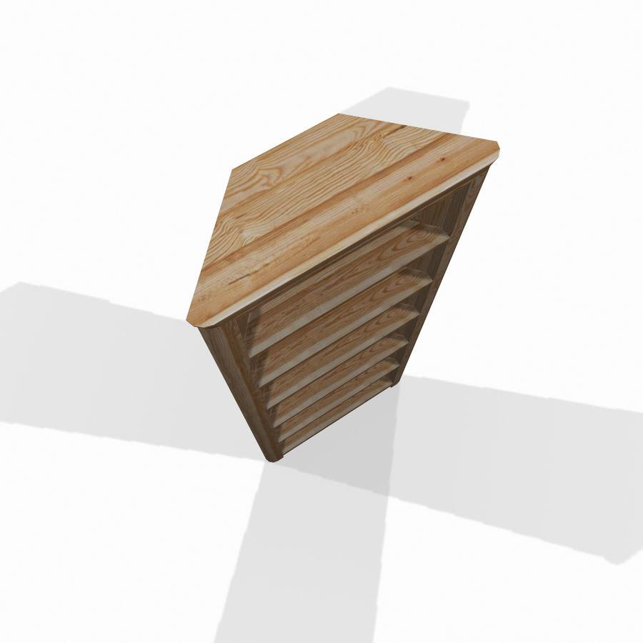 Houten hoekplank royalty-free 3d model - Preview no. 4