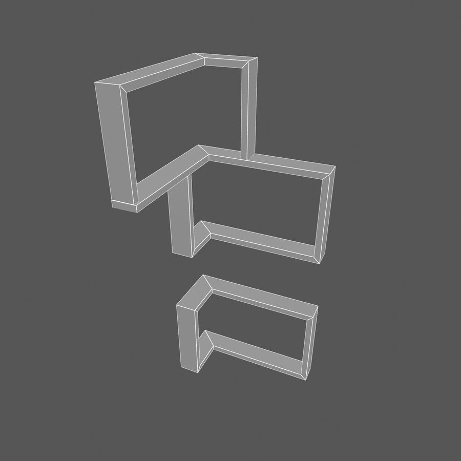 Houten hoekplank royalty-free 3d model - Preview no. 5