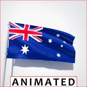 Flag Animated 3d model