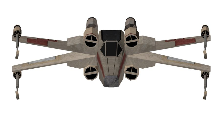 x-wing royalty-free 3d model - Preview no. 2
