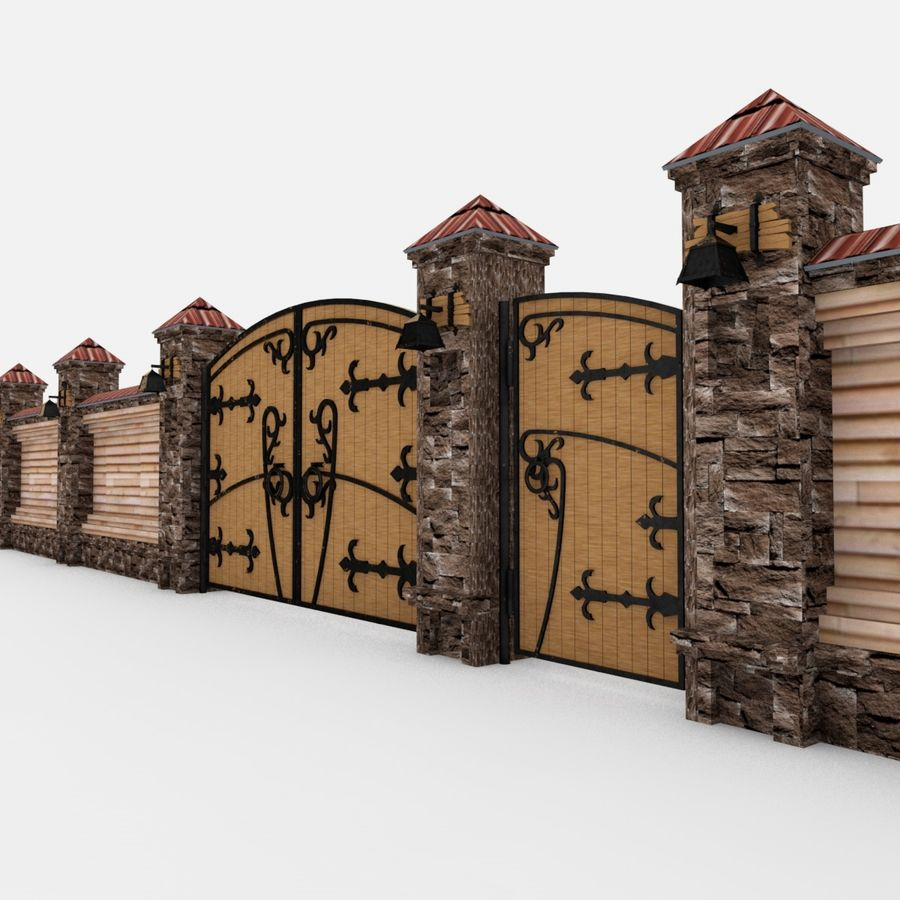 Recinzione e cancelli royalty-free 3d model - Preview no. 2