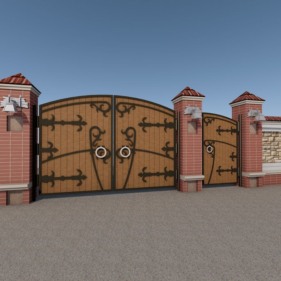 Recinzione e cancelli royalty-free 3d model - Preview no. 4