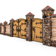 Fence and Gates 3d model