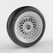 Wheel BBS and tire Goodyear 3d model
