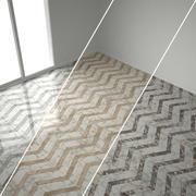 Marble herringbone tiles, 6 sets 3d model