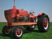 Stary ciągnik 3d model