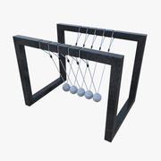 Newtons cradle one 3d model