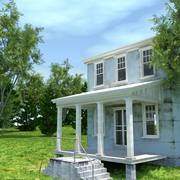 Blauw huis 3d model