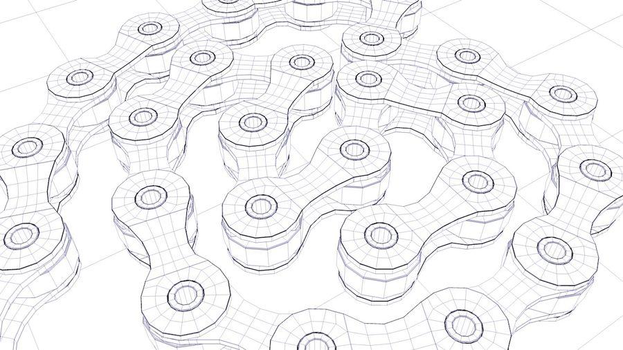 Catena da bici royalty-free 3d model - Preview no. 8