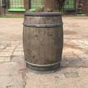 Medieval Barrel 3d model