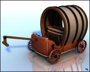 Pulling Wagon 3d model