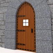 Porte médiévale-01 3d model