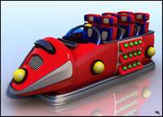 Roller Coaster Car Cartoon 3d model