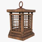 Wood Lantern 001 3d model