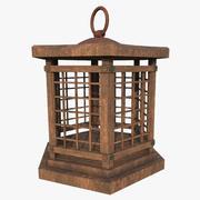 Lanterna in legno 001 3d model