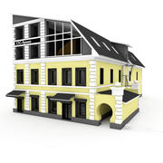Apartment City Building 2-Sided 3d model
