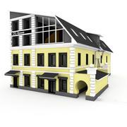 Lägenhet City Building 2-sidigt 3d model