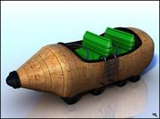 Roller Coaster Water Cart Cartoon 3d model