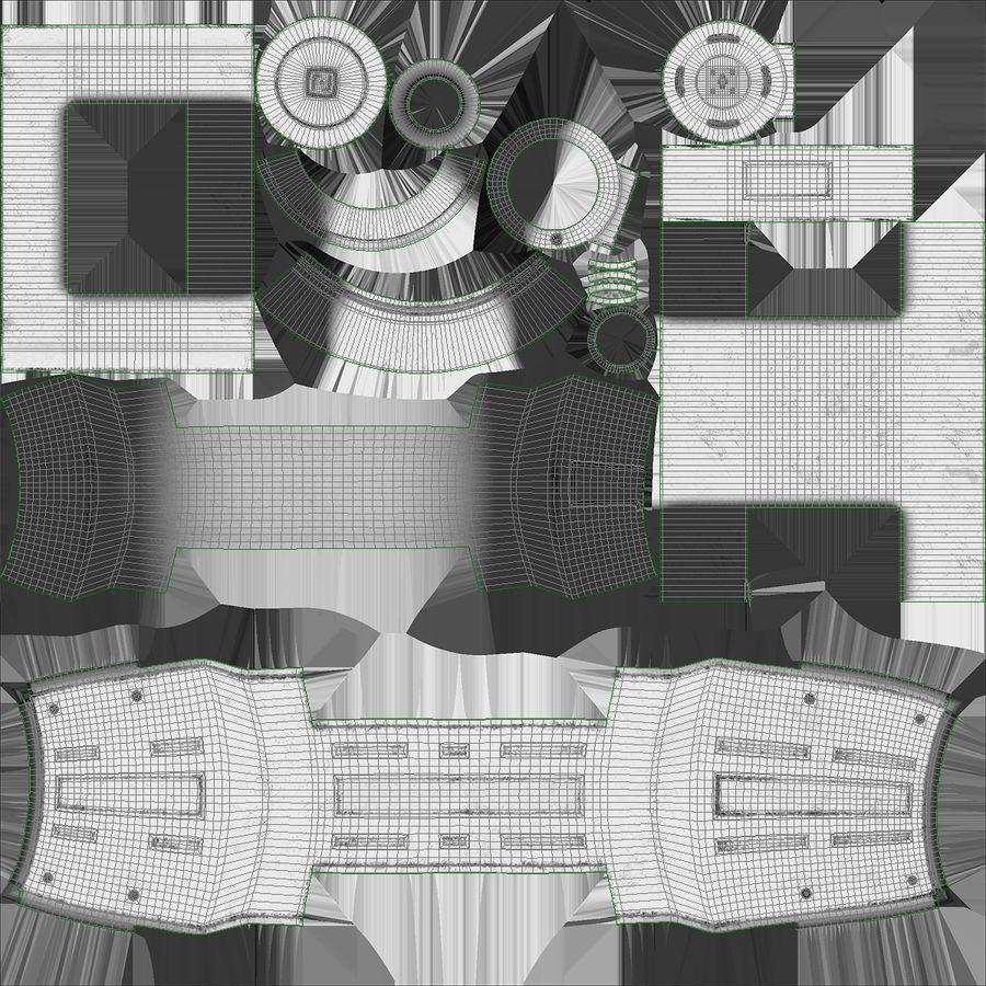 Sci-Fi Анодированный поршень 7 3D модель royalty-free 3d model - Preview no. 14