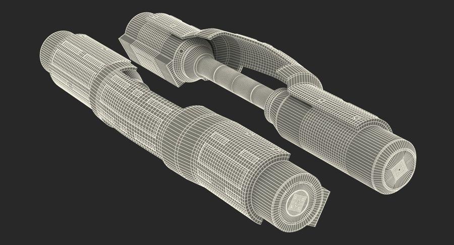 Sci-Fi Анодированный поршень 7 3D модель royalty-free 3d model - Preview no. 18