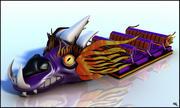 Dragon Roller Coaster Cart Cartoon 3d model