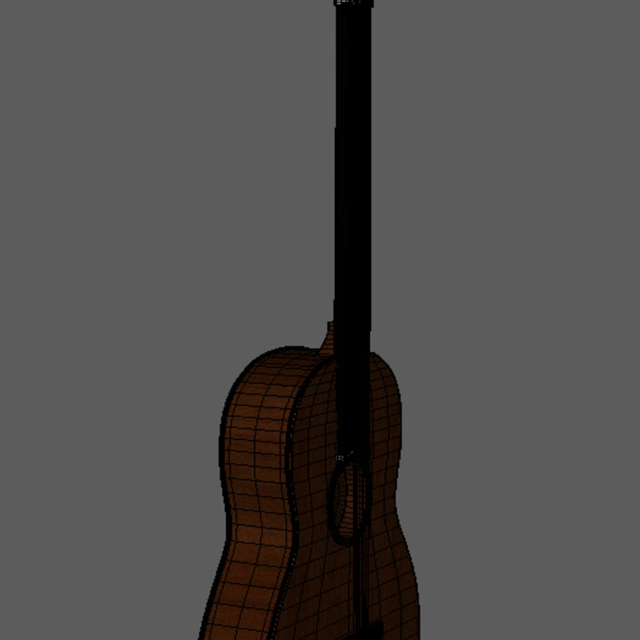 Spanish Guitar royalty-free 3d model - Preview no. 5