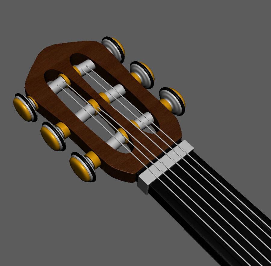 Spanish Guitar royalty-free 3d model - Preview no. 8
