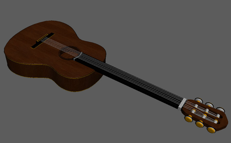 Spanish Guitar royalty-free 3d model - Preview no. 6