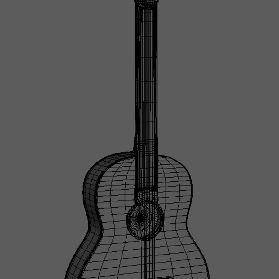 Spanish Guitar royalty-free 3d model - Preview no. 3
